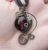 Steampunk purple pendant II by ukapala