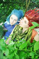 Lea and Isa - In the gardens by Gekroent
