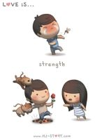 23. Love is... Strength by hjstory