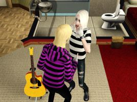 Mr. White and Neron in The Sims 3 by Psycho5Team