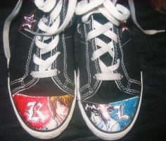 Death Note Shoes 8D by Peek-a-booPants