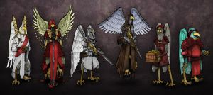 People of the Alkirian Sky Empire by Lionel23