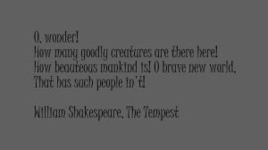 William Shakespeare, The Tempest by wordboy