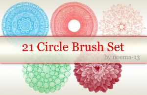 21 Circle Brush Set by noema-13