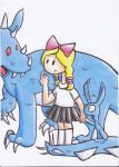 Harvey's new eyes- Dragon, Lilly and Harey by Creeperchild