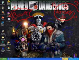 Armed and dangerous wallpaper by OreoZombabe