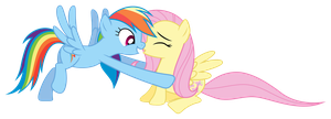 Rainbow Dash saves Fluttershy by Pikamander2