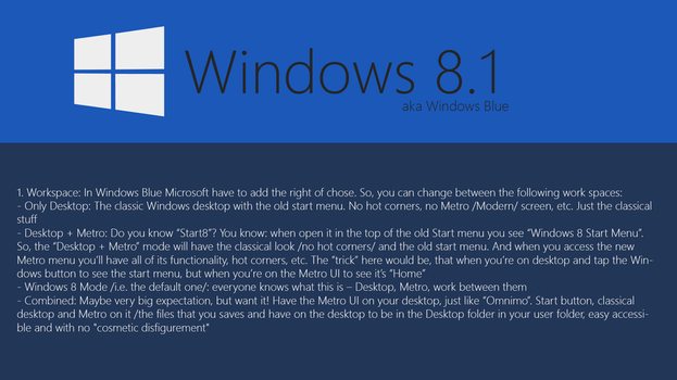 Windows Blue Concept: Workspace by SoftwarePortalPlus