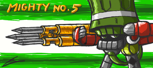 Mighty no. 5 Gatling by borockman
