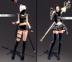 my vindictus characters by NoUsernameIncluded