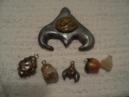Labyrinth Charms and Pendant by AquariusStar82