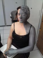 weeping angel makeup II by made-me-a-monster