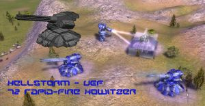 Hellstorm - UEF Howitzer by MikeTehFox