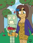 Prehistoric Future: Apple Picking by sailorlovesong