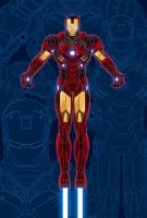 IRONMAN Blueprint Poster by Creative2Bit
