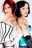 Tattooed maidens by Badgrrl13
