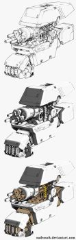 Robotic hand lineart drawing #PART2: Base Color by nadrouch