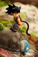 Kid S goku and the Big Fish nyeh nyeh nyeh by jeffbedash325
