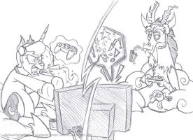 Gamer rage - sketch- by MelissaTheHedgehog