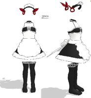 MMD- Maid v.3- DL by MMDFakewings18