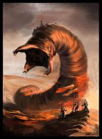 giant worm by Talipsisman