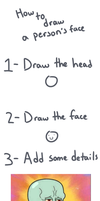 How to draw a person faice by ShAcKmO