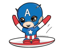Chibi - Captain America by AnjiDaDistroyer