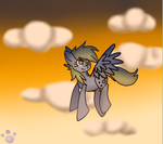 Derpy Hooves: High in the sky by CutieKittytTheArtist