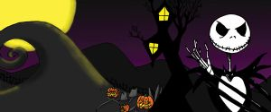 Nightmare Before Christmas Diptych-Right side by wolfb09