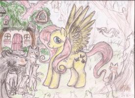 The first pony art I ever drawewed by Pwnyville