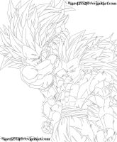 SSJ3 Vegeta and SSJ3 Gotenks 2 by JamalC157