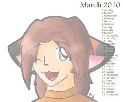 OC Calendar '10-March by Peeka13