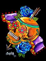 Sugar Skull and Arrow by Vicki-Death