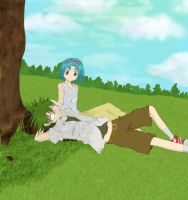 Tranquille Day: Ueki and Ai by Arisusa