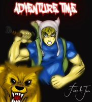 adventure TIME!!!! finn and jake by officialMARKJAYSON