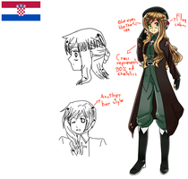 Character Design for Croatia by OkamiTsume