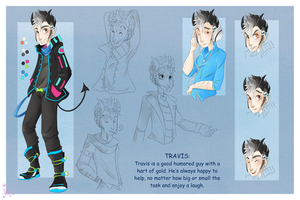 :: Commission June 08 Character Sheet :: by VioletKy