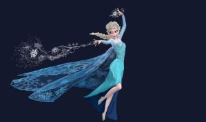 Paint Practice Queen Elsa by XRosetteNebulaX