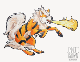 Arcanine by sugarpoultry
