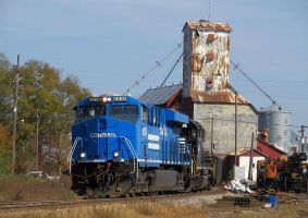 Conrail heritage 8098 leads 91E work train by EternalFlame1891