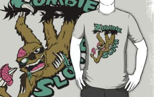 Zombie Sloth Tshirt by Mehdals