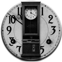 Steampunk Clocking-in GreyScale Icon by yereverluvinuncleber