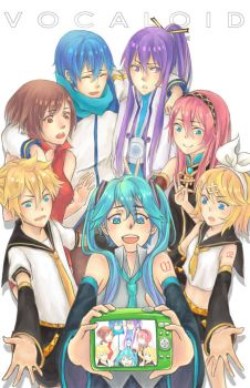 Vocaloid Family by bunnychii