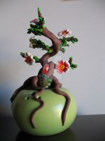 Fimo Bonsai tree 2 by FunkadelicPsychoFish
