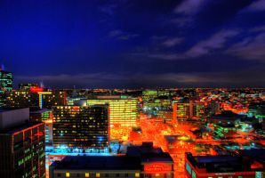 Denver at Night by NullCoding