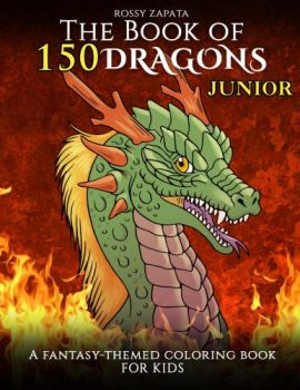 150 Dragons coloring book for kids by Silver-Ray