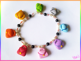 Multicolor Handbags Bracelet by CookingMaru