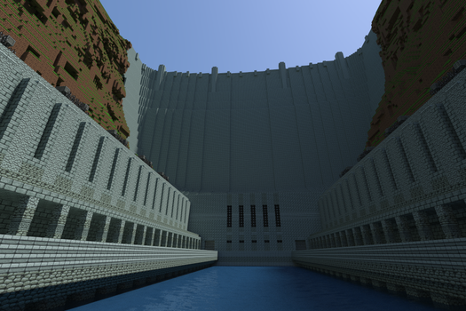 Hoover Dam in Minecraft by TacoWrath