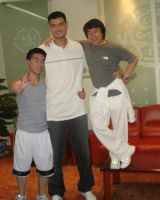 me, yao ming, and jackie chan by artman23