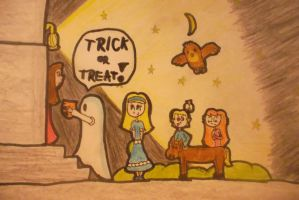 Trick or Treat! (colored) by LudwigGirl